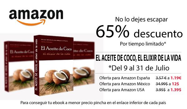 Popup Libro Aceite de Coco promoción Amazon
